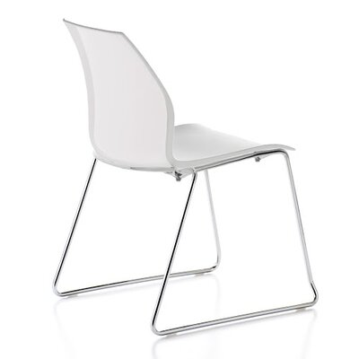 Vortex Sled Base Guest Chair Seat Color: White