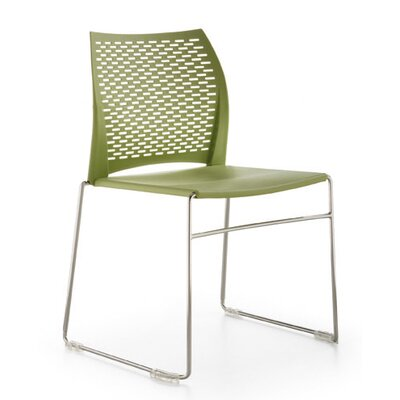 Network Sled Base Guest Chair Seat Color: Seafoam