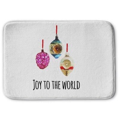 """Joy To The World Memory Foam Bath Rug Size: 17"""" W x 24"""" L"""