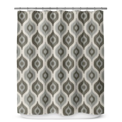 "Underhill Cotton Blend Shower Curtain Color: Tan/ Ivory, Size: 72"" H x 70"" W"