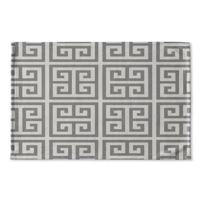 Ginger Flat Weave Bath Rug Color: Grey