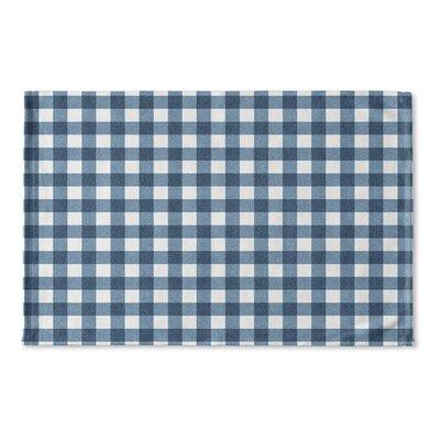 Harding Flat Weave Bath Rug Color: Blue/ Ivory