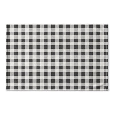 Harding Flat Weave Bath Rug Color: Black/ Grey/ Ivory