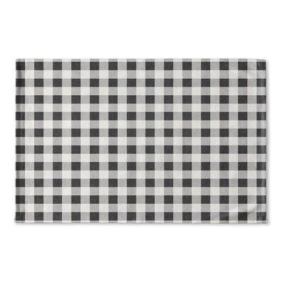 Harding Flat Weave Bath Rug Color: Black/ Grey/ Ivory