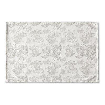 Agatha Distressed Flat Weave Bath Rug Color: Grey/ Ivory