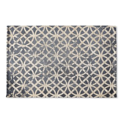 Vasques Flat Weave Bath Rug Color: Grey/ Ivory/ Blue