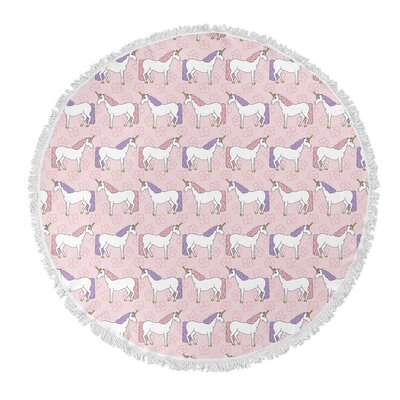 Round Pink/Purple Beach Towel