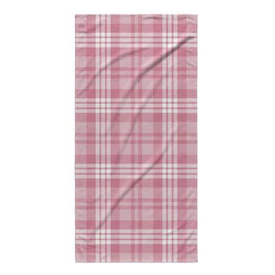 Ridgeley Plaid Pink Beach Towel
