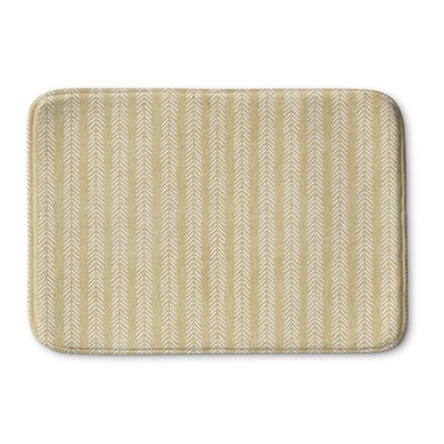"Couturier Memory Foam Bath Rug Size: 24"" W x 36"" L, Color: Cream"