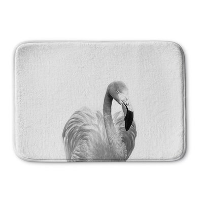 """Trumbauer Flamingo Memory Foam Bath Rug Size: 17"""" W x 24"""" L"""