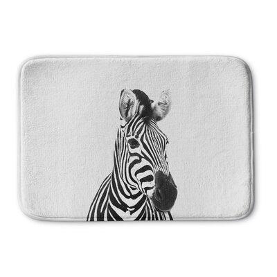 "Trumble Zebra Memory Foam Bath Rug Size: 24"" W x 36"" L"
