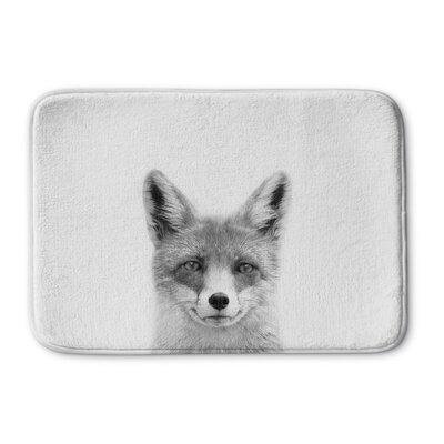 "Truong Fox Memory Foam Bath Rug Size: 24"" W x 36"" L"