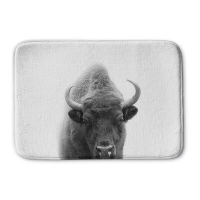 "Trussell Buffalo Memory Foam Bath Rug Size: 24"" W x 36"" L"