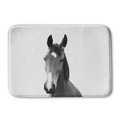 "Tsang Horse Memory Foam Bath Rug Size: 24"" W x 36"" L"