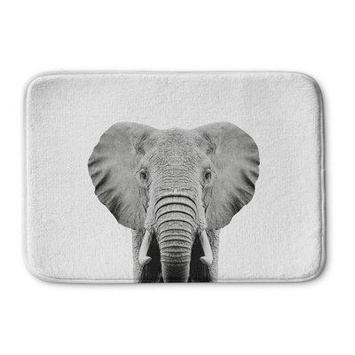 "Tseng Elephant Memory Foam Bath Rug Size: 24"" W x 36"" L"