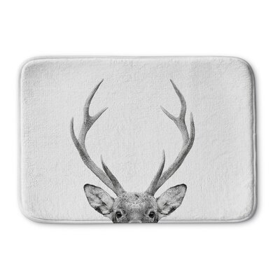 "Willsbridge Deer Memory Foam Bath Rug Size: 24"" W x 36"" L"