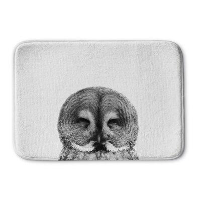 "St George Owl Memory Foam Bath Rug Size: 17"" W x 24"" L"