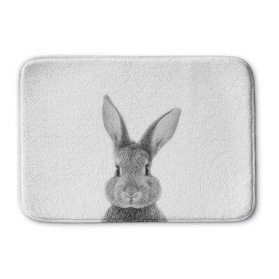 "Bunbury Bunny Memory Foam Bath Rug Size: 17"" W x 24"" L"