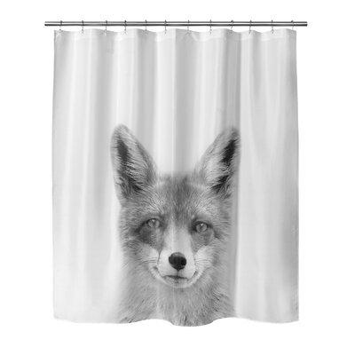 "Fox Shower Curtain Size: 90"" H x 70"" W"