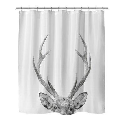 "Applegate Deer Shower Curtain Size: 72"" H x 70"" W"