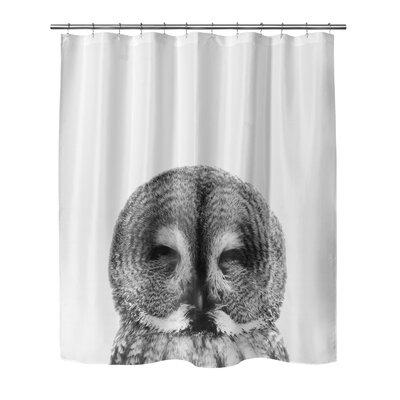 "Owl Shower Curtain Size: 90"" H x 70"" W"