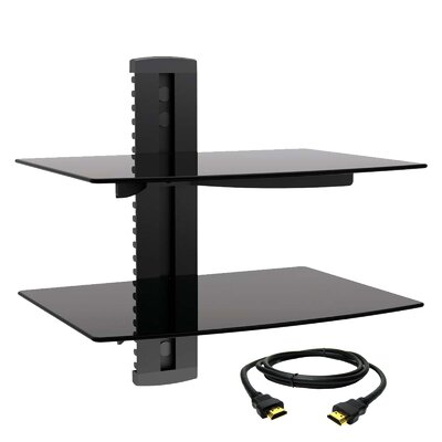 Tempered Glass Wall Mount for Plasma/LCD/LED Screens