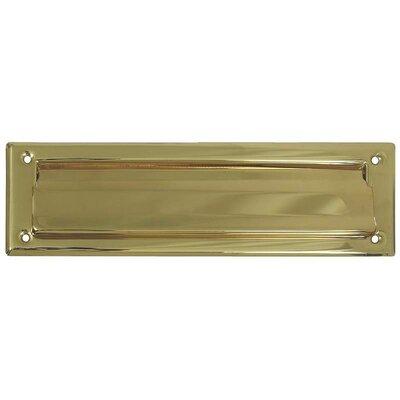 14 in x 4 in Brass Mail Slot