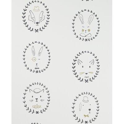 Hibou Home Portraits 10m L x 52cm W Roll Wallpaper
