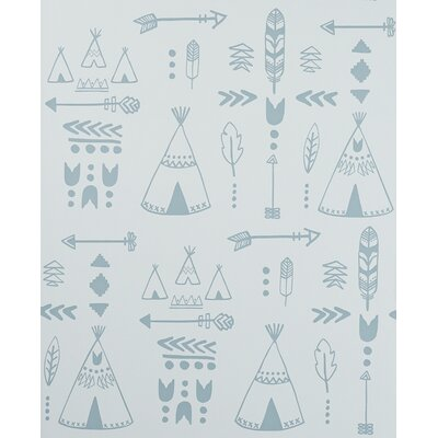 Hibou Home Teepees 10m L x 52cm W Roll Wallpaper