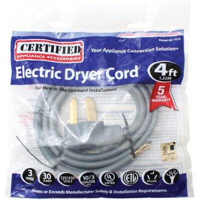 4' Universal Dryer Cord