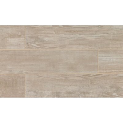 "Hamptons 8"" x 36"" Porcelain Wood Tile in Gray Oak"
