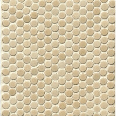 "360 Penny Rounds 12"" x 12"" Porcelain Mosaic Tile in Beige"