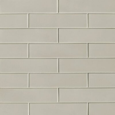 "Portofino 3"" x 12"" Ceramic Subway Tile in Gray"