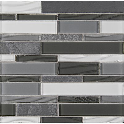 "Queenstown 12"" x 12"" Stone Mosaic Linear Tile in Ashton"