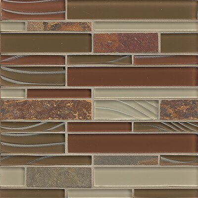 "Queenstown 12"" x 12"" Stone Mosaic Linear Tile in Alexandra"