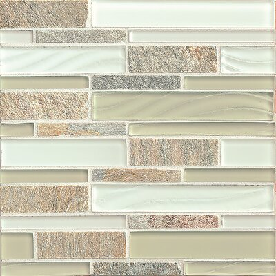 "Queenstown 12"" x 12"" Stone Mosaic Linear Tile in Toko"