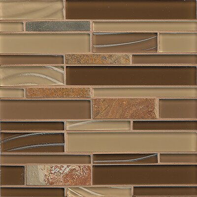 "Queenstown 12"" x 12"" Stone Mosaic Linear Tile in Hawke"