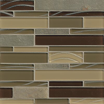 "Queenstown 12"" x 12"" Stone Mosaic Linear Tile in Masterton"