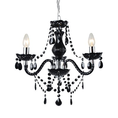First Choice Lighting Marie Therese 3 Light Crystal Chandelier