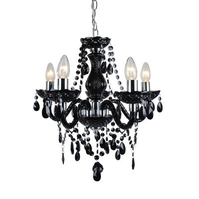 First Choice Lighting Marie Therese 5 Light Crystal Chandelier