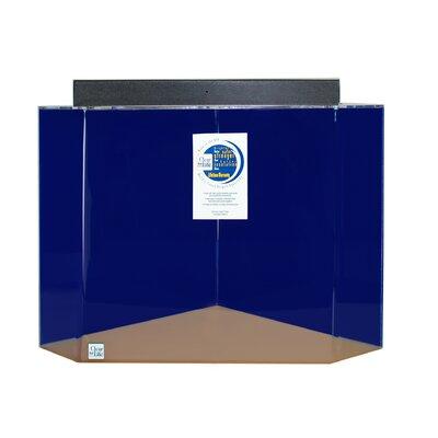 """Mullin Pentagon Acrylic Aquarium Tank Color: Sapphire Blue, Size: 24"""" H x 36"""" W x 36"""" D"""