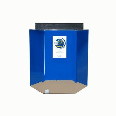 """Hexagon Acrylic Aquarium Tank Color: Sapphire Blue, Size: 30"""" H x 29"""" W x 25"""" D"""