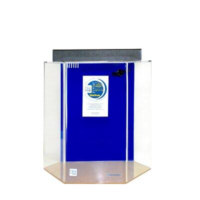 """Hexagon Aquarium Tank Size: 24"""" H x 29"""" W x 25"""" D, Color: Sapphire Blue"""