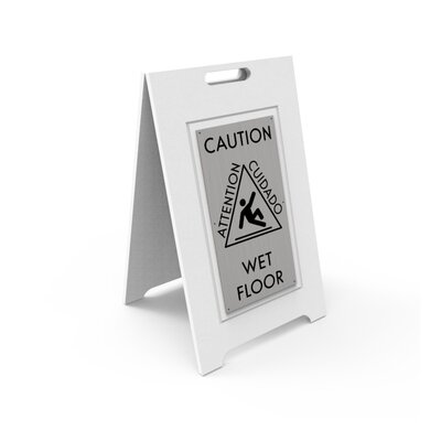 Caution Wet Floor Sign Color: Silver