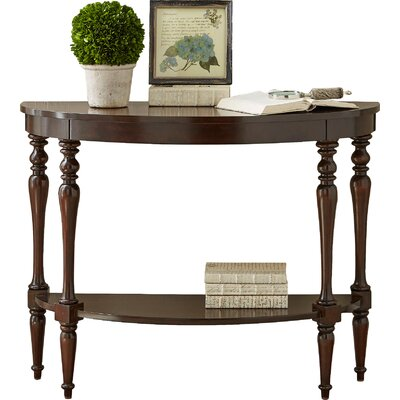 Hassan Demilune Console Table Color: Mahogany