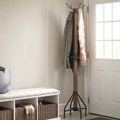 Logan Coat Rack Color: Walnut Brown/Black