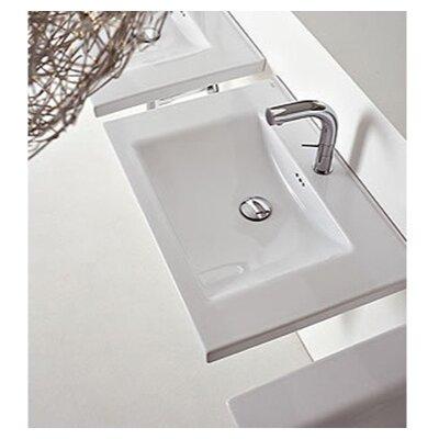 "Kloc Ceramic 30"" Wall Mount Bathroom Sink with Overflow"