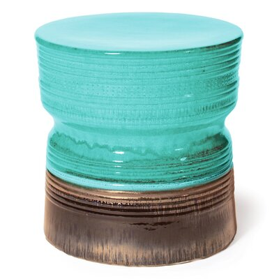 Ancaris Accent Stool Finish: Aquamarine / Metallic
