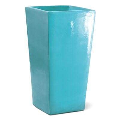 English Ceramic Pot Planter Color: Turquoise Blue