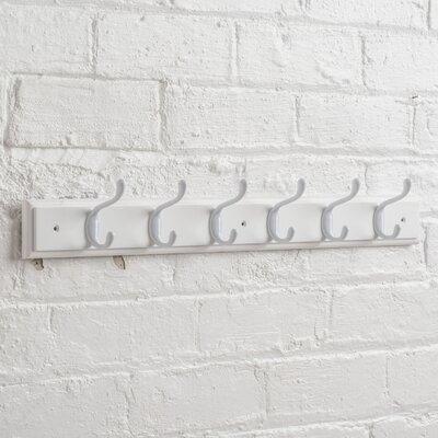 Chuckanut Wall Mounted Coat Rack Color: White/White